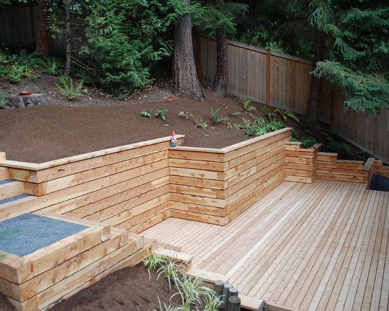 Lovely But The Term Usually Refers To A Cantilever Retaining Wall, Which Is A  Freestanding Structure Without Lateral Support At Its Top.